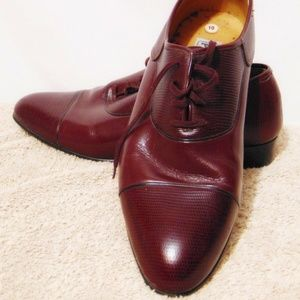 Vintage PLAYBOY 70's/80's Dress Shoes 10 Burgundy